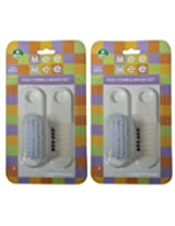 Mee Mee Comb Brush Set MM-3825 white Pack of 2
