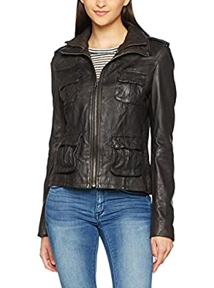 Superdry Lederjacke Megan Flag Slim