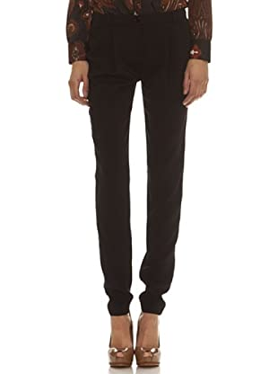 Trussardi Pantalón Pinzas (negro)