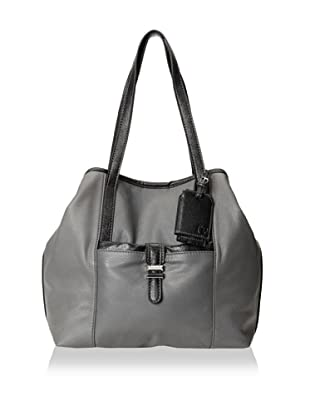 Charlotte Ronson Women's Classic De-Constructed Tote Bag (Grey)