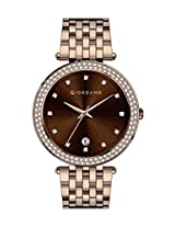 Giordano Analog Brown Dial Women's Watch - A2021-55