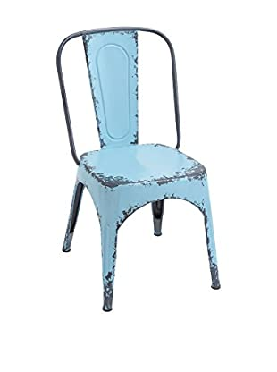 Metal Blue Chair