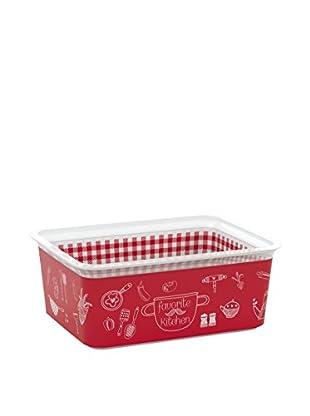 Kis Set Caja de Almacenamiento 5 Piezas Chic Box Premium M _ Kitchen Rojo / Blanco