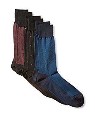 Florsheim Men's Odd Man Out Pack Sock 3-Pack, Multi, One Size