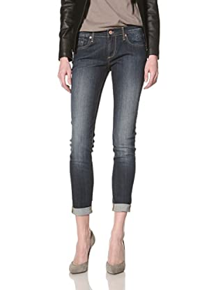 Driftwood Women's Roll-Up Skinny Jean (Medium blue)