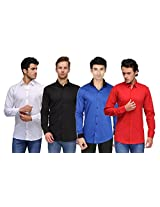 Feed Up Combo of 4 Men's Shirts 38