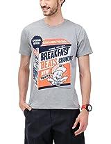 Yepme Men's Multi-Coloured Graphic Cotton T-shirt -YPMTEES0379_M