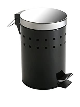 Zings Papelera con Tapa Baño Negra