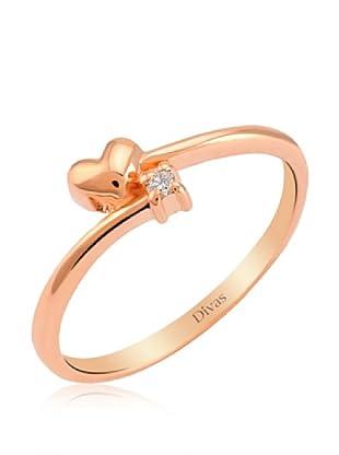 Divas Diamond Anillo Corazón Diamante Solitario (Oro)