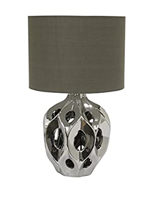 Three Hands Ceramic Table Lamp, Silver/Grey