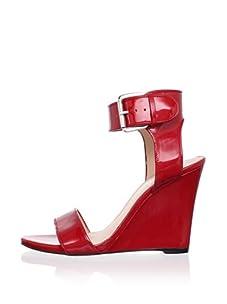 Alejandro Ingelmo Women's Gilda Wedge Sandal (Red)