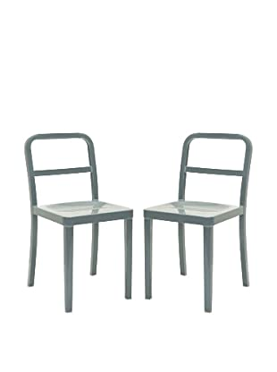 Safavieh Set of 2 Kastra Side Chairs, Grey