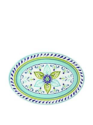 Mediterranean Tile Melamine Oval Platter, Multi