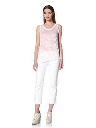 JIL SANDER NAVY Women's Printed Sleeveless T-Shirt (Pink Multi)