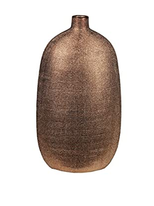 Privilege Small Textured Vase, Bronze
