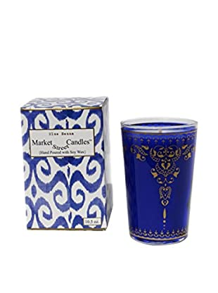 Market Street Candles 10.5-Oz. Blue Henna Moroccan Candle