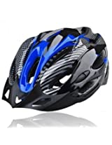JSZ EPS Outdoor Mtb Road Bicycle Cycling Helmet with 19 Vents(Carbon&Blue)
