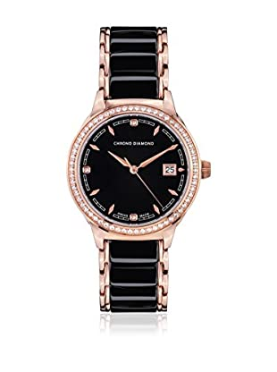 Chrono Diamond Reloj con movimiento cuarzo suizo Woman 10410C Thyrsa Negro 34.0 mm