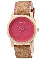 Sprout Sprout Unisex St/5516Pkck Pink Dial Cork Strap Eco-Friendly Watch - St/5516Pkck