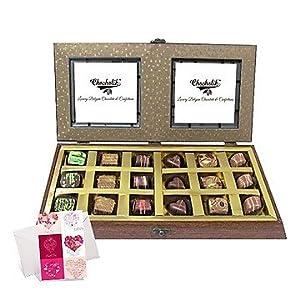 Belgium Chocolates - Fascinating Divine Gold Belgium Chocolate Box - Chocholik
