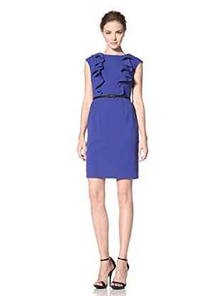 Calvin Klein Women's Cap Sleeve Dress with Ruffle Detail (Atlantis)
