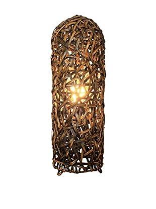 Colonial Style Tischlampe Pataya braun