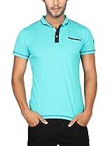 Paani Puri Men's Polo (Z Green_Small)