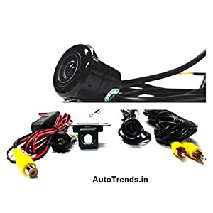 2 in 1(Black Color)Waterproof Car Rear View Night Vision Reverse Parking Camera.