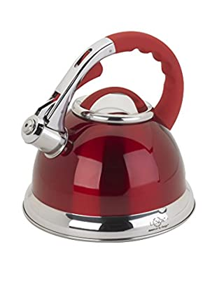 Lenox 2.5-Qt. Red Stainless Steel Whistling Tea Kettle