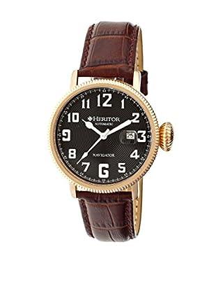 Heritor Automatic Uhr Olds Herhr3210 dunkelbraun 50  mm