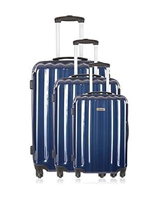 Travel ONE Set de 3 trolleys rígidos Altamura Azul