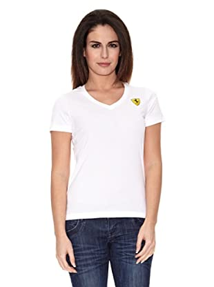 Ferrari Camiseta V-neck (Blanco)