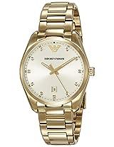 Emporio Armani New Tazio Analog Champagne Dial Women's Watch - AR6064