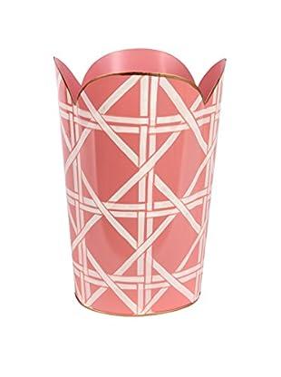 Jayes Cane Tulip Wastebasket, Pink