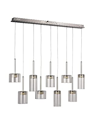 Bel Air Lighting LED Spot 9-Light-Drop-Pendant, Polished Chrome