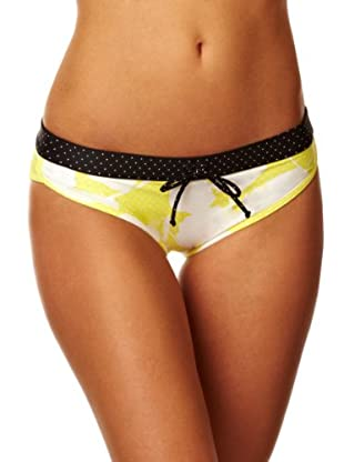 Roxy Braguita New Abstract Flower Retro (Blanco / Negro)