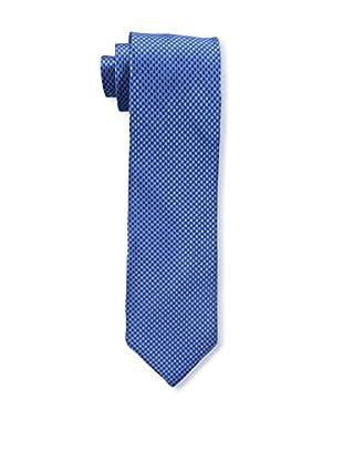 Bruno Piattelli Men's Houndstooth Silk Tie, Blue