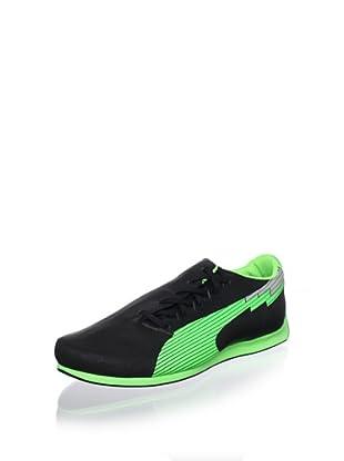 Puma Men's Evospeed F1 Low Sneaker (Black/Fluorescent Green)