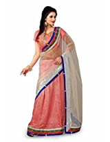 TrynGet's Pink fancy Net Saree