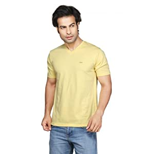 Clifton Men's V-Neck T-shirt - Yellow