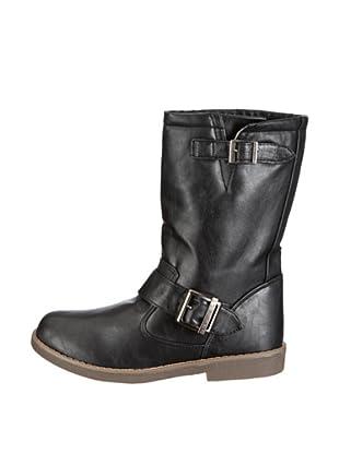 Buffalo Girl 137809F PU 121863 - Botas para mujer (Negro)