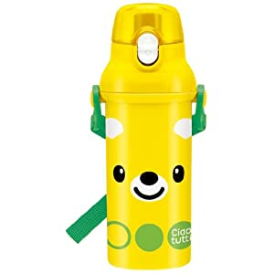 【クリックでお店のこの商品のページへ】Ciao tutti 食洗機対応直飲みプラワンタッチボトル 黄クマちゃん PSB5SA
