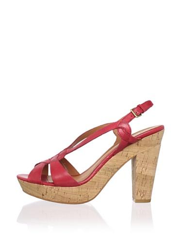 Ash Women's Havana Cork Sandal (Red)