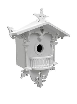 Home Bazaar Cuckoo Cottage Bluebird Birdhouse, White