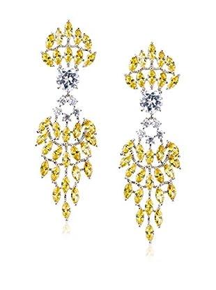 CZ by Kenneth Jay Lane Cascading Drop Clip Earrings