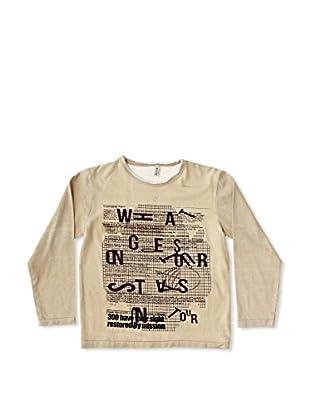 New Caro Camiseta Manga Larga Tallo Niño (Beige)