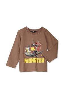 miniMONSTER Baby Boy's Trucker Long Sleeve Tee (Brown)