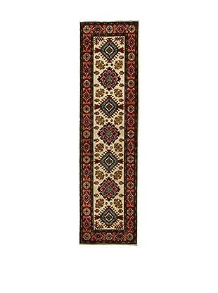 L'Eden del Tappeto Teppich Uzebekistan Super beige/rot 296t x t79 cm