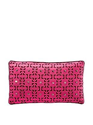 Nanette Lepore Sequin Gradient Laser Geo Pillow, Maroon
