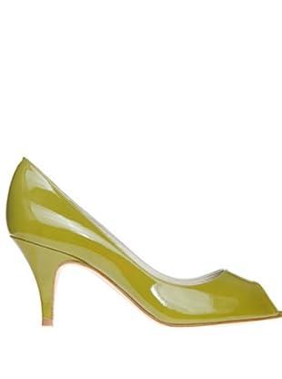 Magrit Zapatos Peep Toe (Verde)